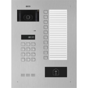 Wideodomofon cyfrowy z zamkiem szyfrowym, czytnikiem zbliżeniowym, 10 przyciskami oraz dużą listą opisową ACO INSPIRO 900S+