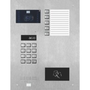 Wideodomofon cyfrowy z zamkiem szyfrowym, czytnikiem zbliżeniowym, 5 przyciskami oraz średnią listą opisową ACO INSPIRO 901