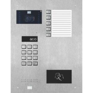 Wideodomofon cyfrowy z zamkiem szyfrowym, czytnikiem zbliżeniowym, 5 przyciskami oraz średnią listą opisową ACO INSPIRO 901S