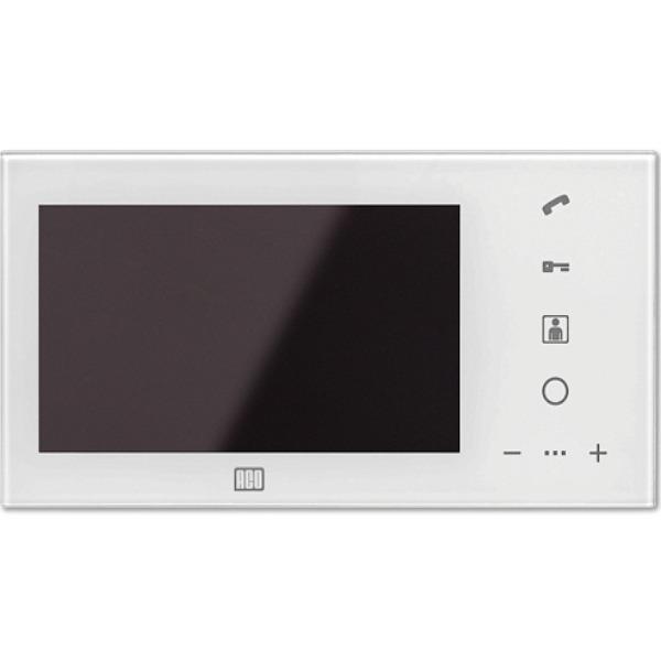 Wideomonitor cyfrowy, głośnomówiący ze szklanym frontem i kolorowym wyświetlaczem 7'' ACO MPRO-7 WH