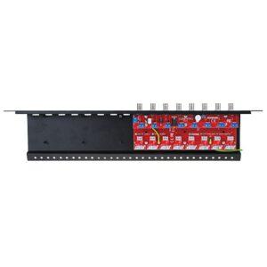 8-kanałowy, separowany konwerter UTP do AHD, HD-CVI, HD-TVI z zabezpieczeniem przeciwprzepięciowym i dystrybucją zasilania EWIMAR LHST-8R-EXT-FPS