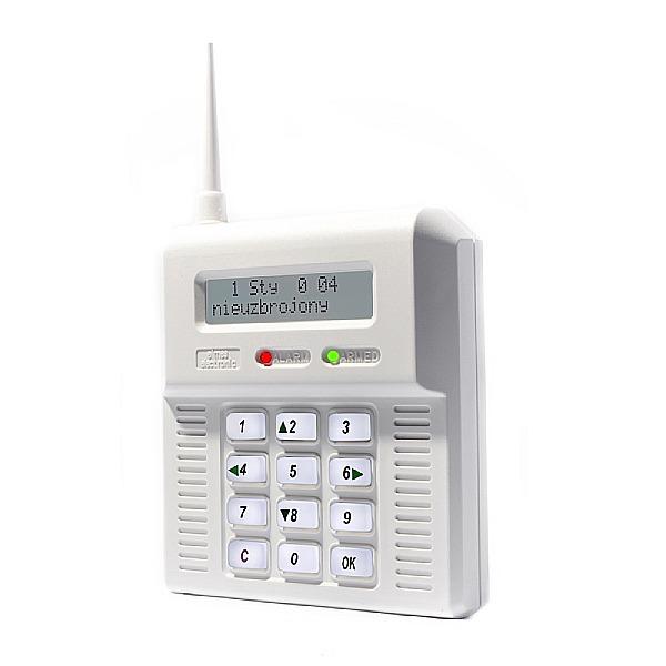 Centrala alarmowa z białym wyświetlaczem ELMES CB32 BB