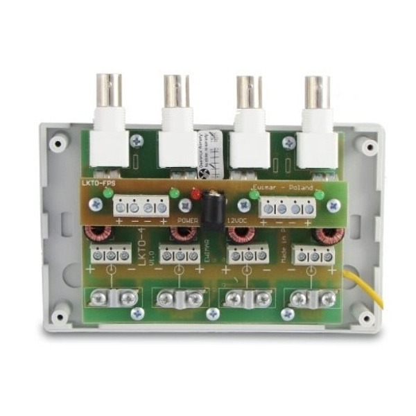 Zabezpieczenie przepięciowe na koncentryk i skrętkę z dystrybucją zasilania EWIMAR LKTO-4-FPS