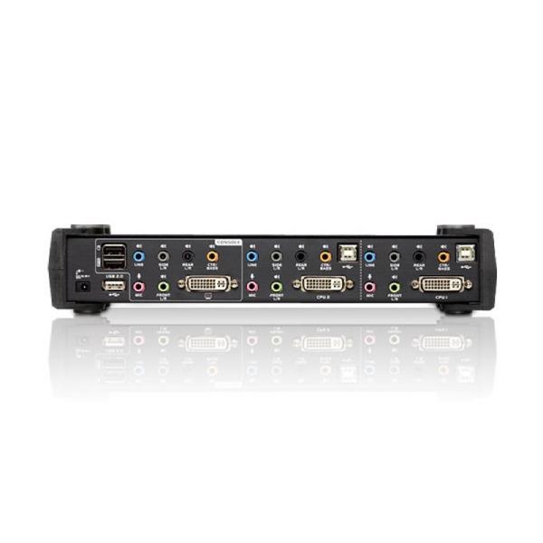 2-portowy przełącznik KVMP USB DVI Dual Link/CH7.1 Audio ATEN CS1782A-AT-G