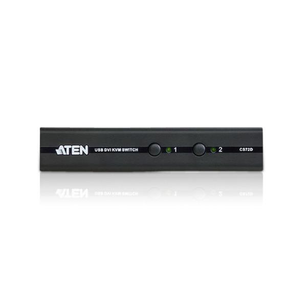 2-portowy przełącznik KVM USB DVI ATEN CS72D-AT