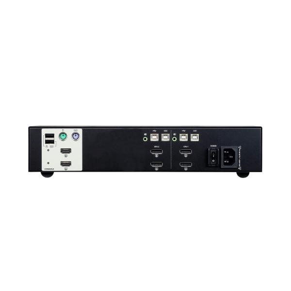 2-portowy przełącznik Secure KVM USB DisplayPort Dual Display ATEN CS1142DP-AT-G