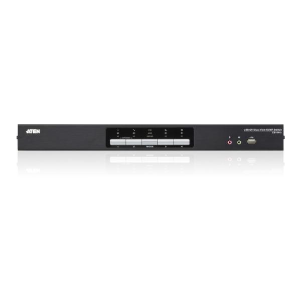 4-portowy przełącznik KVM Dual Link/Audio DualView ATEN CS1644A-AT-G
