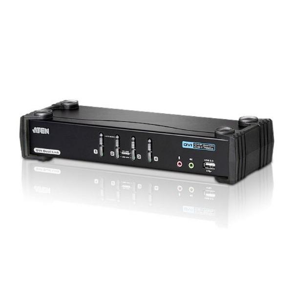 4-portowy przełącznik KVMP USB DVI Dual Link/Audio ATEN CS1784A-AT-G