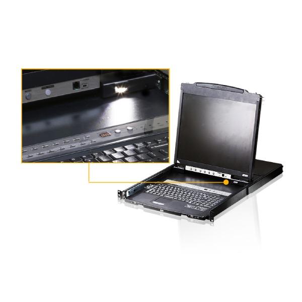 8-portowy przełącznik KVM LCD Dual Rail ATEN CL5808N-ATA-AG