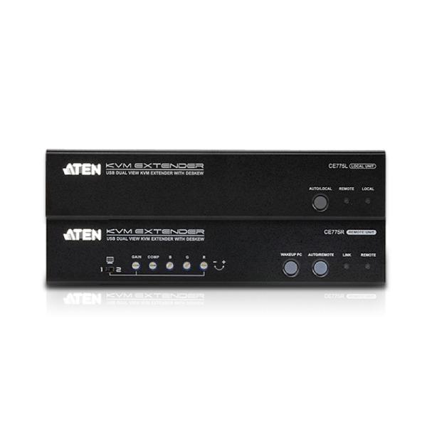 Extender KVM USB Dual View z funkcją Deskew ATEN CE775-A7-G
