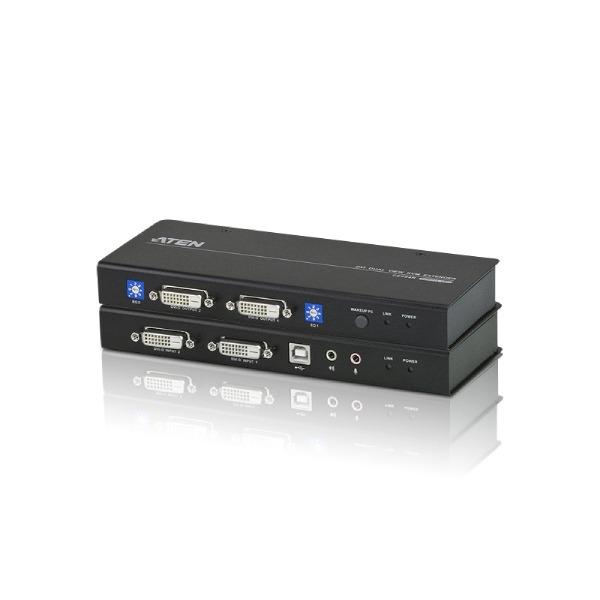 Extender z interfejsami DVI Dual Link i USB ATEN CE604-AT-G