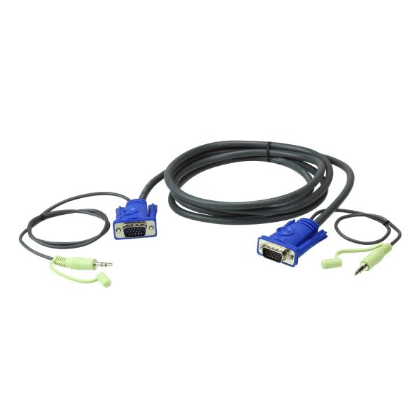 Kabel VGA 10m z audio stereo 3.5mm ATEN 2L-2510A