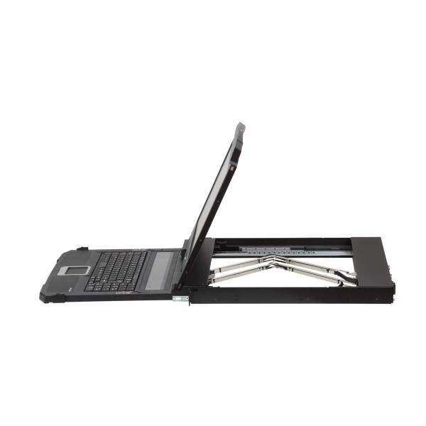 Konsola Short Depth USB HDMI DVI VGA Dual Rail LCD z obsługą urządzeń peryferyjnych USB ATEN CL3800NW-ATA-AG