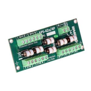 Ogranicznik przepięć 4 zewnętrznych czujek alarmowych EWIMAR APS-4Zo/4P
