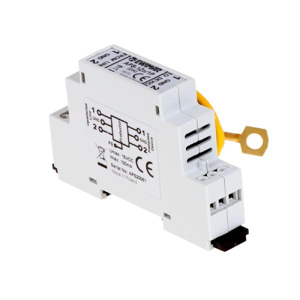 Ogranicznik przepięć linii alarmowej z zasilaniem EWIMAR APS-1Zo/1P/DIN
