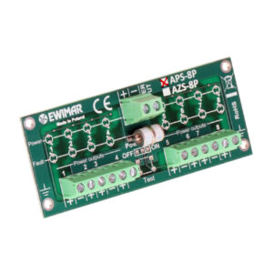 Ogranicznik przepięć zasilania czujek alarmowych z separacją EWIMAR APS-8P
