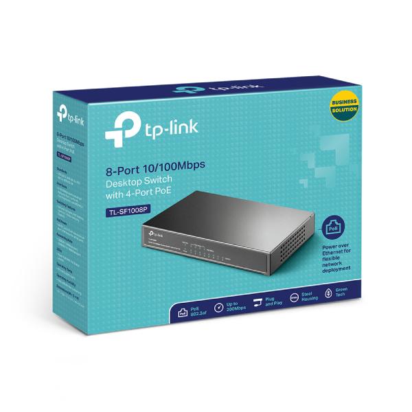 Switch 8 portowy Tp Link TL SF1008P 4