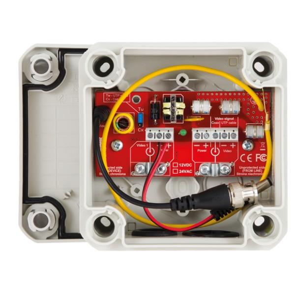 Ogranicznik przepięć do kamery zewnętrznej HD EWIMAR BOX HD-1- EXT/12VDC