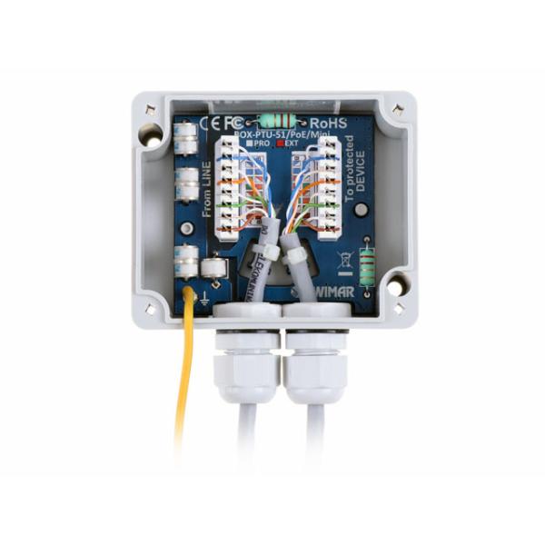 Urzadzenie ochronne sieci LAN w obudowie zewnetrznej Ethernet EWIMAR BOX PTU 51 EXT PoE MINI 2