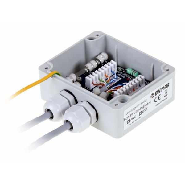 Urzadzenie ochronne sieci LAN w obudowie zewnetrznej Ethernet EWIMAR BOX PTU 51 EXT PoE MINI 3